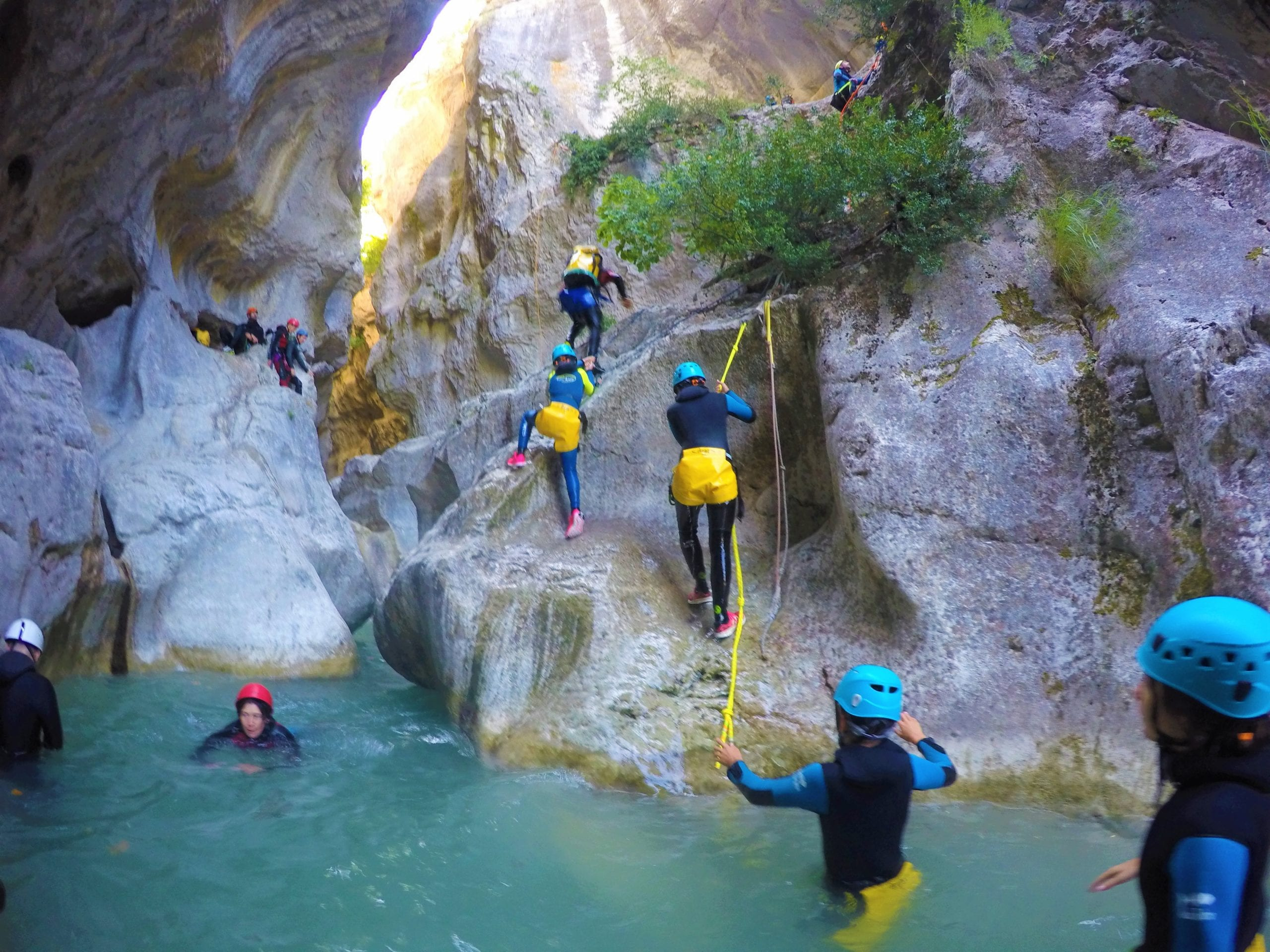 Canyoning Verdon - the reminder of the Jabron