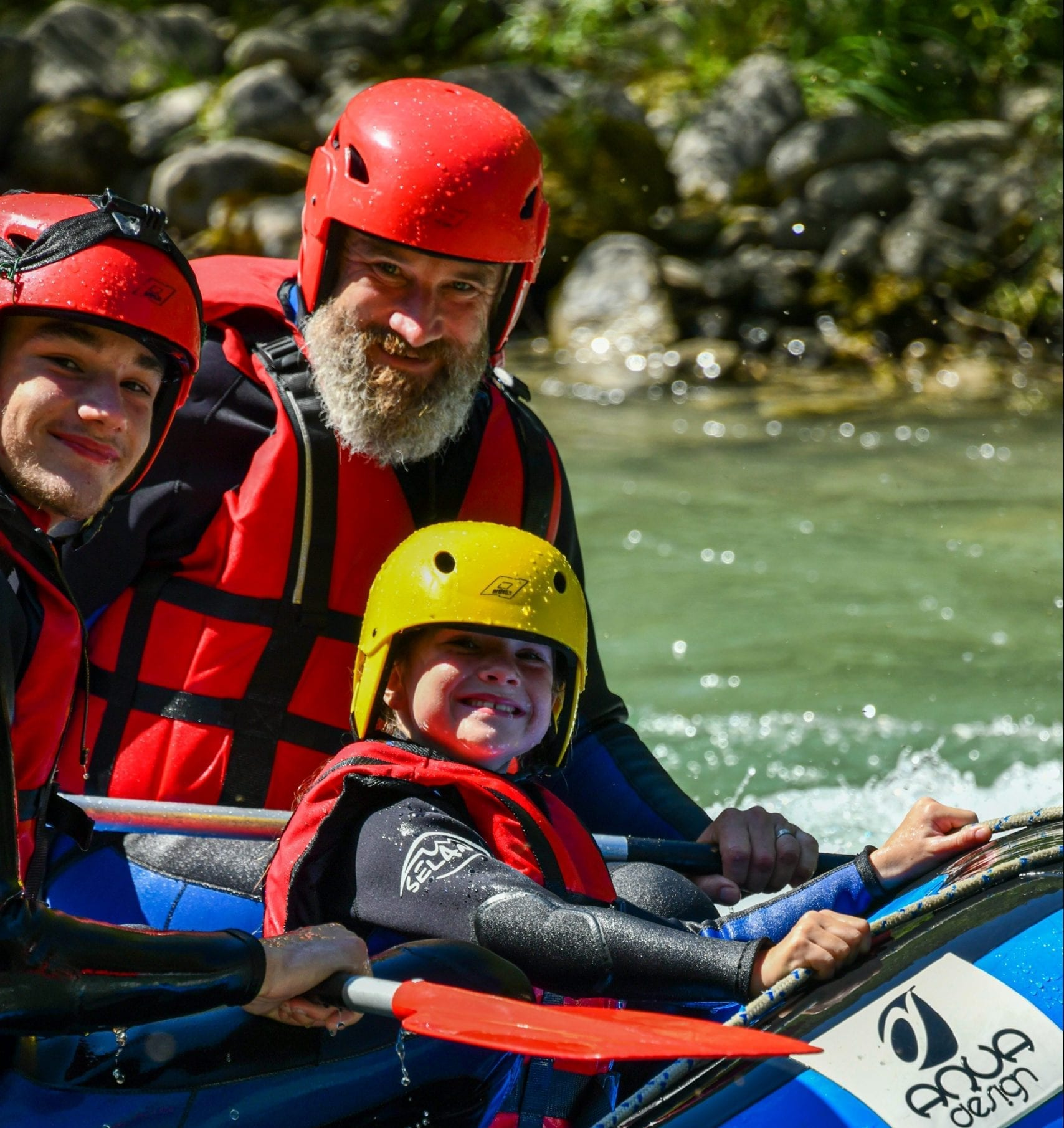 Le verdon with the family - discovery rafting