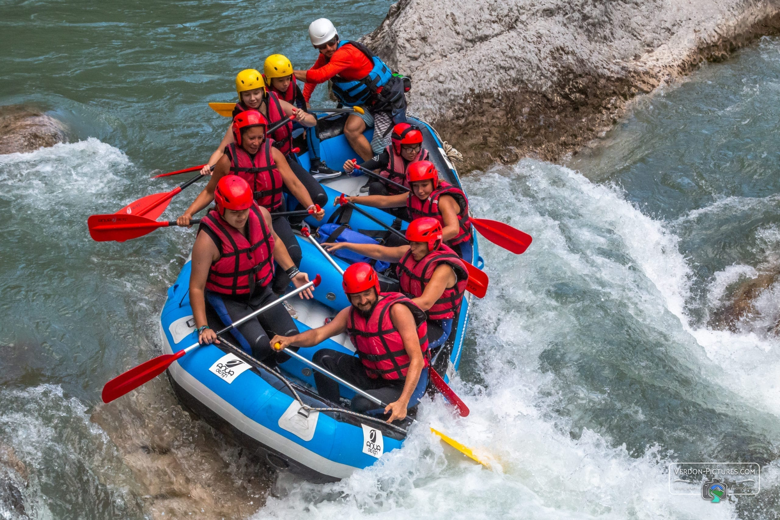 Rafting activity in the Gorges du Verdon