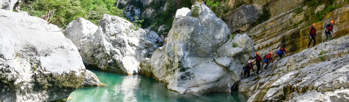 Rando aqua grand canyon du Verdon - Le couloir Samson